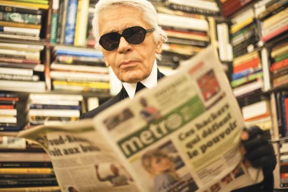 Karl Lagerfeld issue of Metro