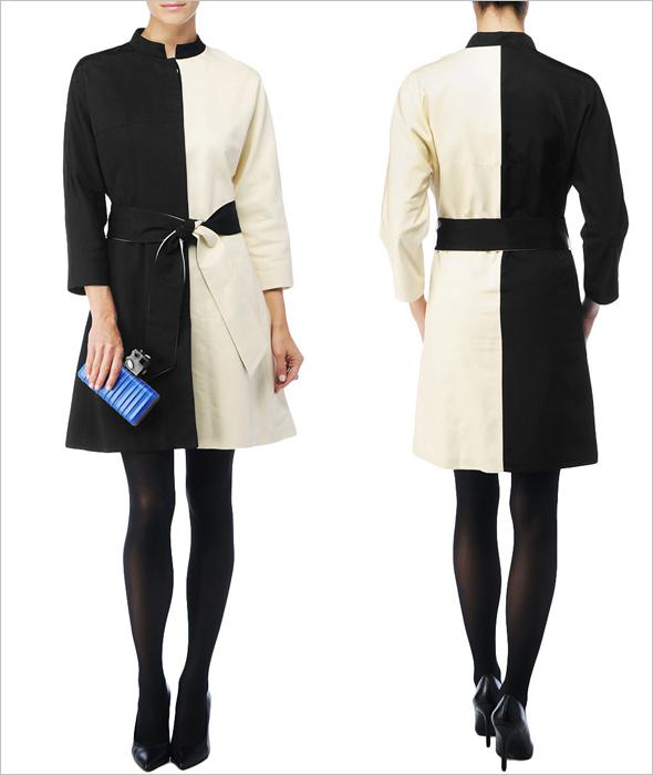 Kelly Wearstler black and white Horizon Coat