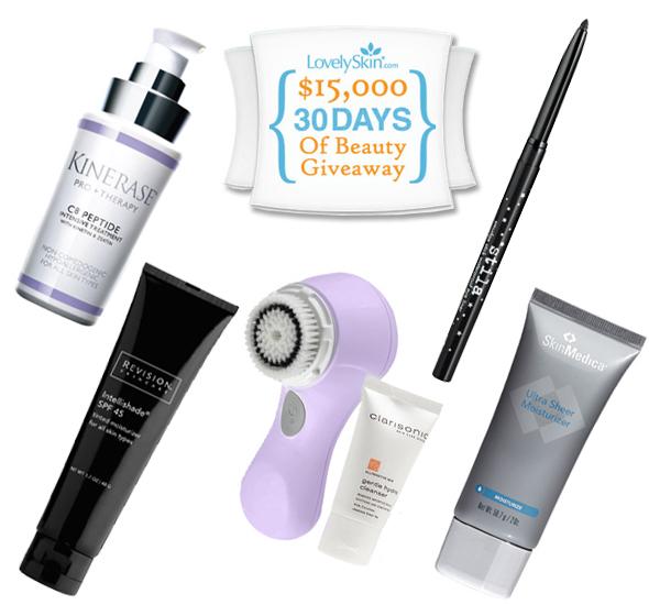 Lovely Skin 30 Day of Beauty Giveaway Kinerase C8 Peptide Revision Skincare Intellishade Clarisonic Mia Stila eyeliner SkinMedica Ultra Sheer Moisturizer - what's haute