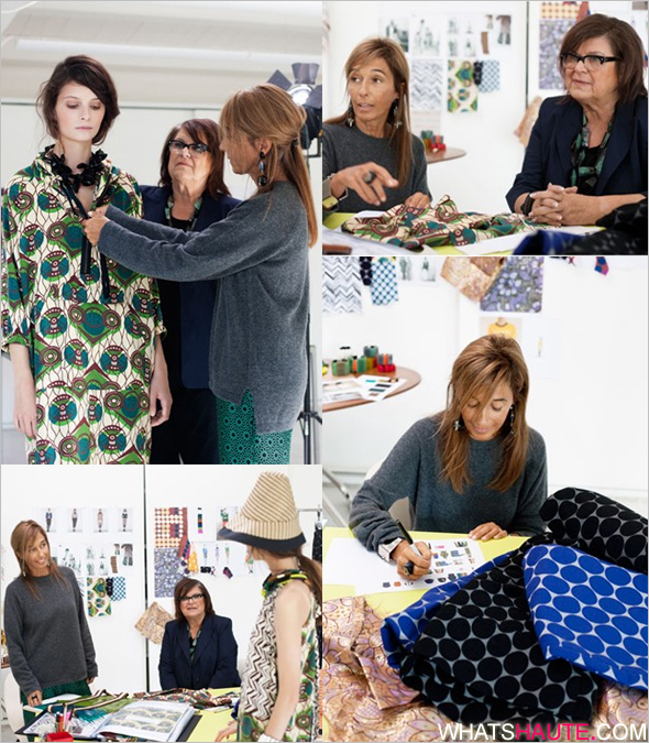 Marni for H&M collaboration collection - Consuelo Castiglioni and H&M's Margareta van den Bosch