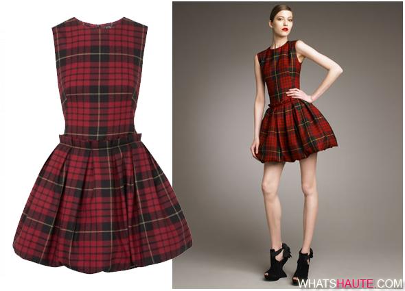 McQ-Alexander-McQueen-Tartan-Pouf-Skirt-Dress