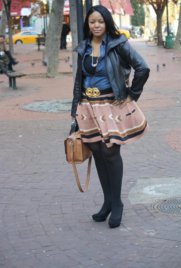 My-style-H&M-denim-top-Asos-Aztec-print-skirt-Kate-Spade-Bow-Bridge-Kennedy-bag-Charles-David-pumps-5