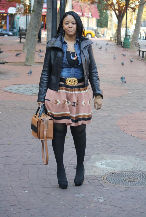 My-style-H&M-denim-top-Asos-Aztec-print-skirt-Kate-Spade-Bow-Bridge-Kennedy-bag-Charles-David-pumps-8
