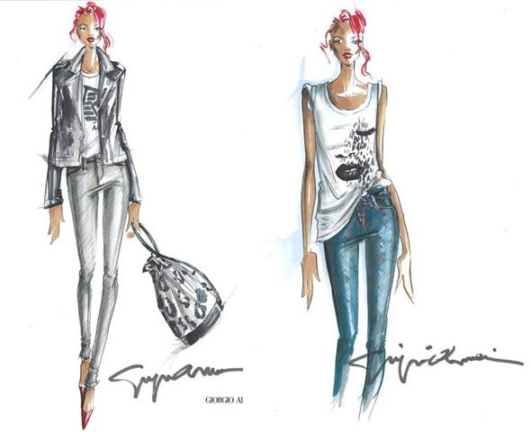 Rihanna debuts fashion collection for Armani