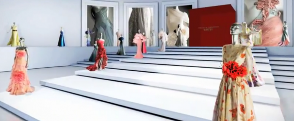 A scene from the video preview for the Valentino Museum