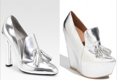 Shoe wars: Alexander Wang 'Anais' Metallic High Heel Loafer vs. Jeffrey Campbell 'Zealous' Pump