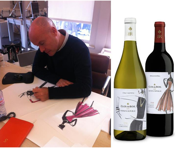 Simon Kneen Banana Republic for Clos du Bois limited-edition holiday wines