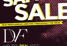 Get your holiday shopping done this week at the Diane von Furstenberg sample sale