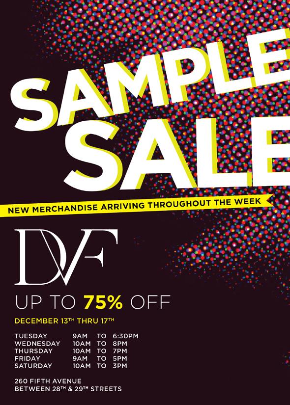 Diane von Furstenberg sample sale holiday shopping