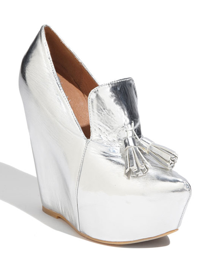 Jeffrey Campbell metallic silver tasseled 'Zealous' Pumps