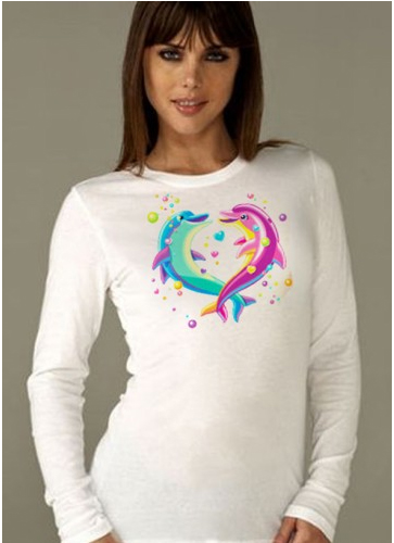 Lisa-Frank-Dancing-Dolphins-Long-Sleeve-Tee