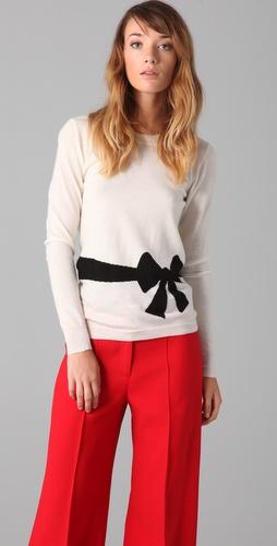 Milly Trompe l'Oeil Bow Sweater
