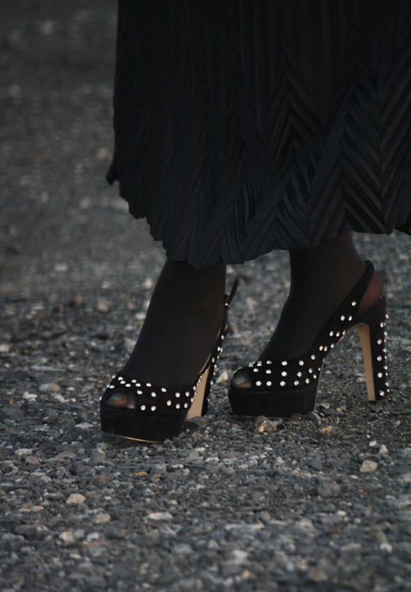 My Style Zara bird top Missoni Target skirt Zara crystal platforms