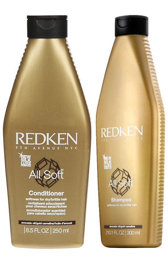 Redken All Soft shampoo and conditioner