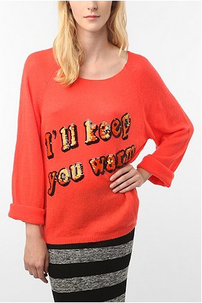 Wildfox-Couture-I'll-Keep-You Warm pullover sweater