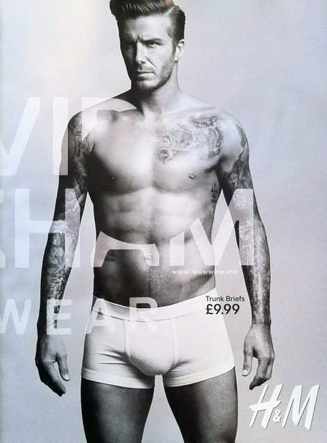 David Beckham bodywear line for H&M ads