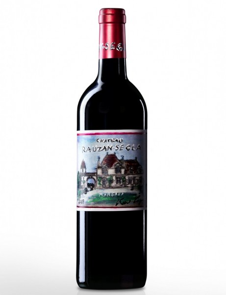 Karl Lagerfeld designed bottle of Château Rauzan-Ségla Margaux 2009