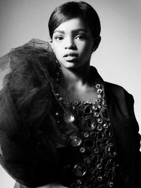 Lauryn Hill's daughter Selah Marley models