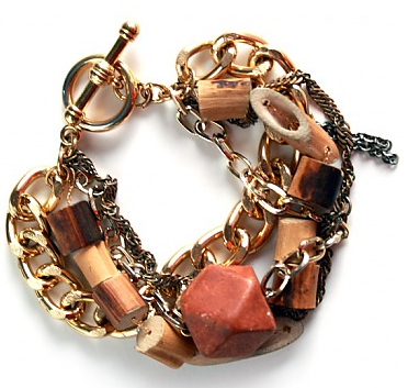 Dirty Librarian Chains Adobe Bracelet