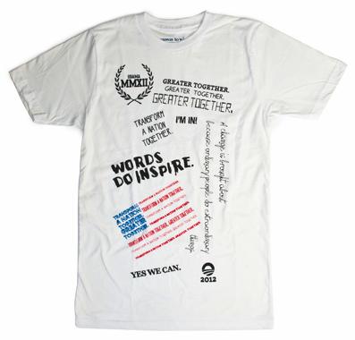 Beyoncé & Tina Knowles Obama 2012 t-shirt