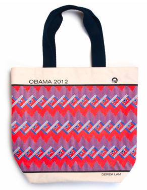 Derek Lam Obama 2012 canvas tote