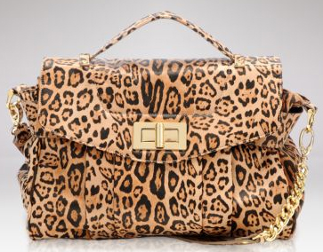 Be&D Rowan Animal Print Satchel