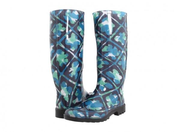 Burberry Floral Print Rain Boots