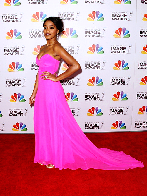 Keke Palmer NAACP Awards hot pink Naven dress