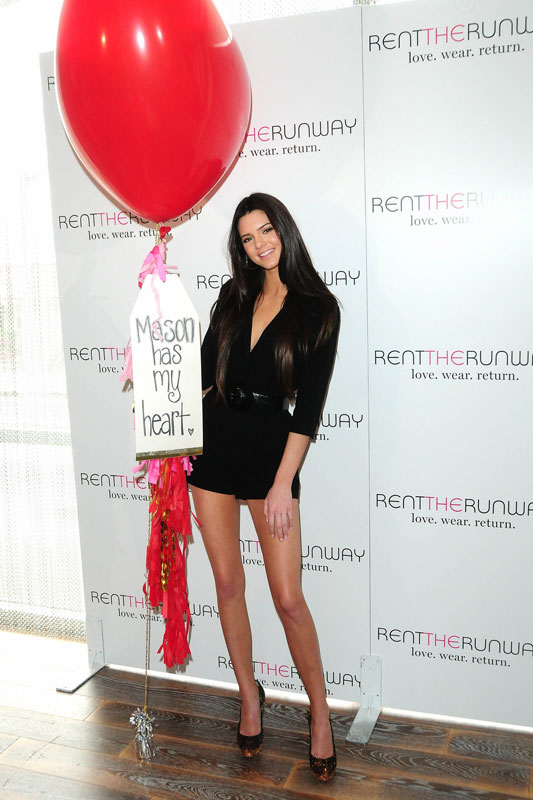 Kendall Jenner in ERIN by Erin Fetherston at Rent The Runway Pop-Up Event