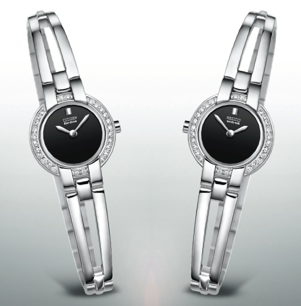 Ladies Citizen Eco Drive Silhouette Crystal Bangle watch