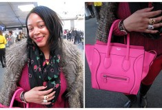 Our New York Fashion Week street style roundup - colorblock, fur, sparkles - and a streaker!
