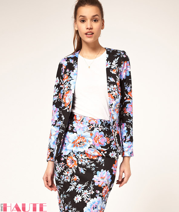 ASOS Blazer In Floral Print - Fashion on What's Haute