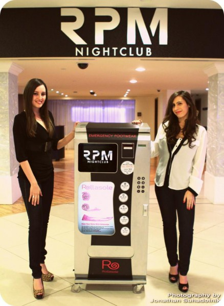 Ashley Ross and Lindsay Klimitz - Rollasole flats vending machine in clubs across the U.S.