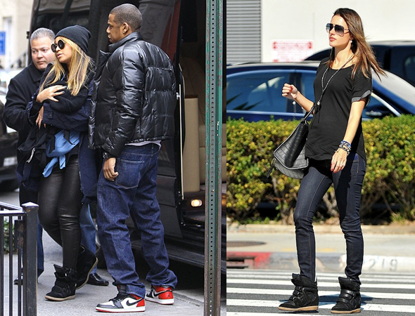 d173fe220968 Beyonce and Alessandra Ambrosio in Isabel Marant sneakers