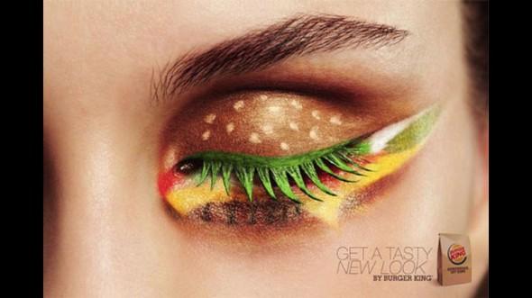 Burger King-inspired eyeshadow