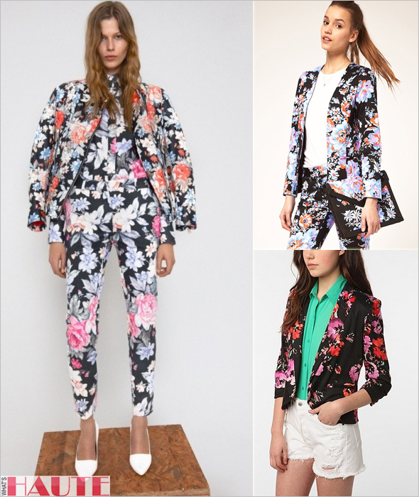 Celine, ASOS and Sparkle & Fade floral blazers - Fashion on What's Haute