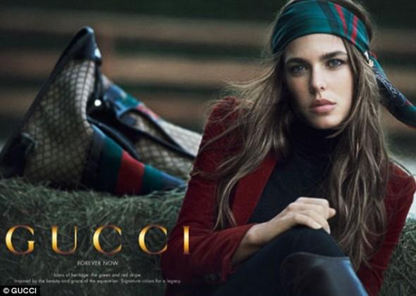 Charlotte Casiraghi of Monaco for Gucci ad campaign
