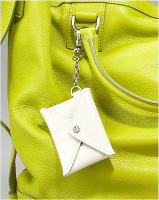 Diane von Furstenberg Drew Leather Bucket Tote lime/citron closeup