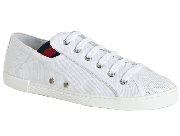 Gucci white canvas cap toe sneakers - Fashion in question