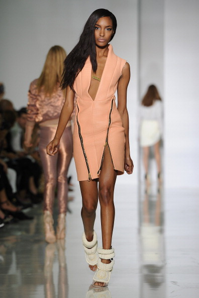 Jourdan Dunn in Dw by Kanye West: Runway - Paris Fashion Week Spring / Summer 2012