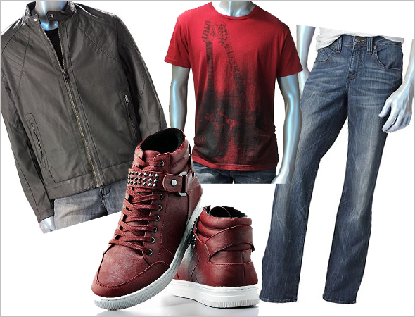 Kohl's Rock & Republic men's collection cool/club look