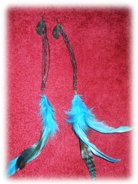 LA Vintage Tribe - feather earrings