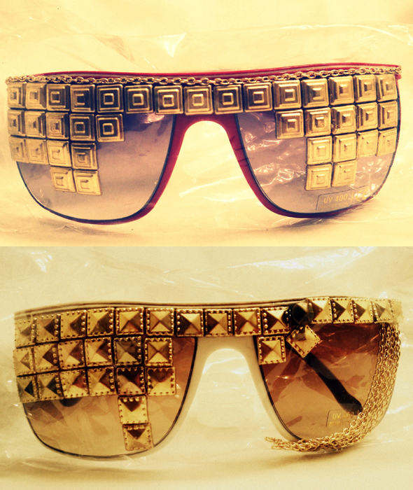 LA Vintage Tribe - studded sunglasses
