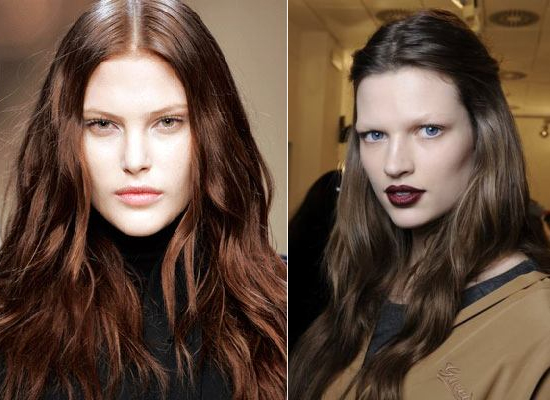 Milan Fashion Week chocolate brown hair