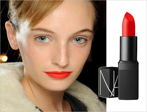 Nars Heatwave and neon lips at Thakoon