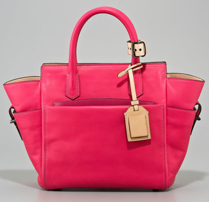 Reed Krakoff Mini Atlantique Tote in Acid Pink