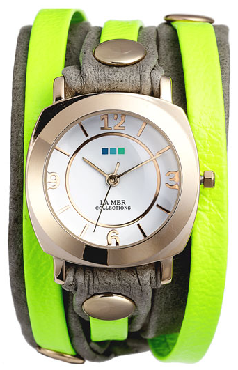 La Mer Collections 'Neon Odyssey' Watch in neon yellow/slate