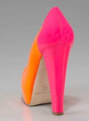 Brian Atwood Alima Colorblock Fluorescent Platform Pump