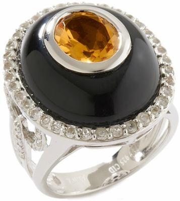 Ramona Singer Onyx Citrine Ring