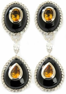 Ramona Singer Onyx Citrine Earrings